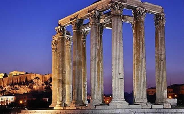 Αποτέλεσμα εικόνας για στύλους του Ολυμπίου Διός